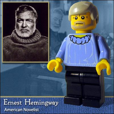 Ernest Hemingway em Lego - via flavorwire.com