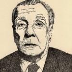 """Jorge Luis Borges - """"Word Portrait"""" de John Sokol"""