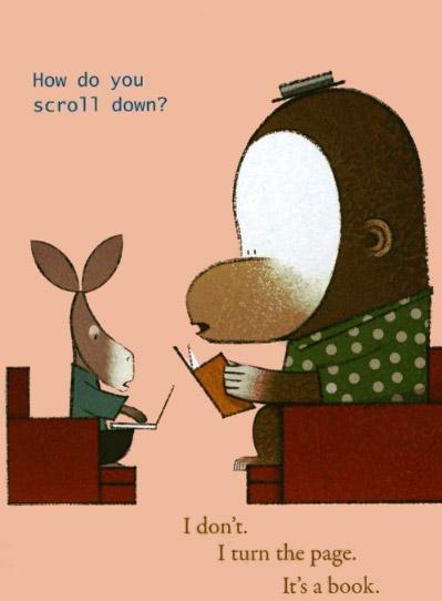 """""""É um livro"""", de Lane Smith"""