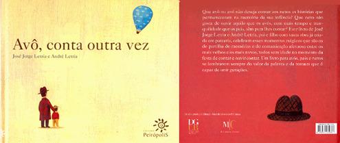 """Capa de """"Avô, conta outra vez"""", livro de José Jorge Letria e André Letria"""