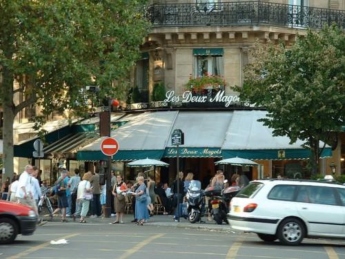 Café Les Deux Magots, em Paris