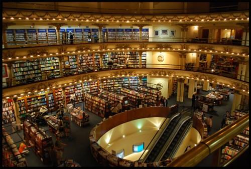 Livraria El Ateneo, de 1920, em Bueno Aires, Argentina.