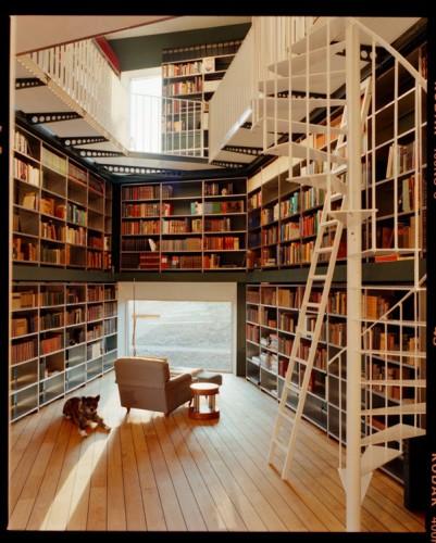 Biblioteca criada pelo escritório de arquitetura Ilai - Foto: Lukas Wassmann