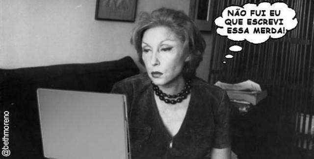 Clarice Lispector indignada