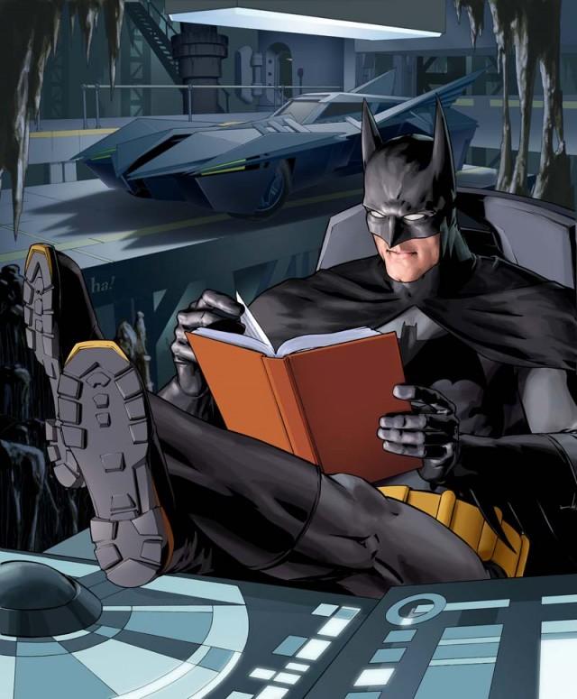 batman lendo