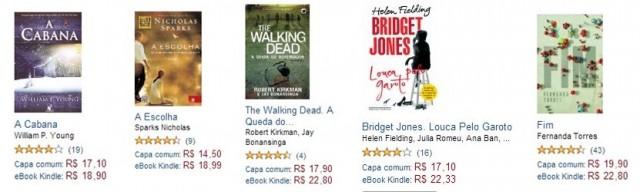 Livros físicos mais baratos que e-books