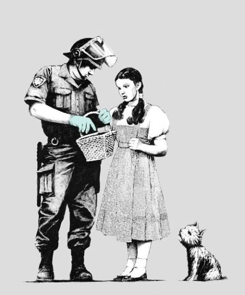 Alice no País das Maravilhas , by Banksy.