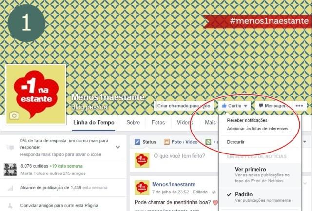 Assine o Facebook: passo 1