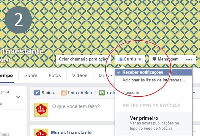 Assine o Facebook: passo 2