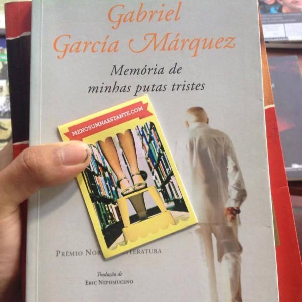 Filipe garantiu o Gabriel Garcia Marquez. Foto: Filipe Lima