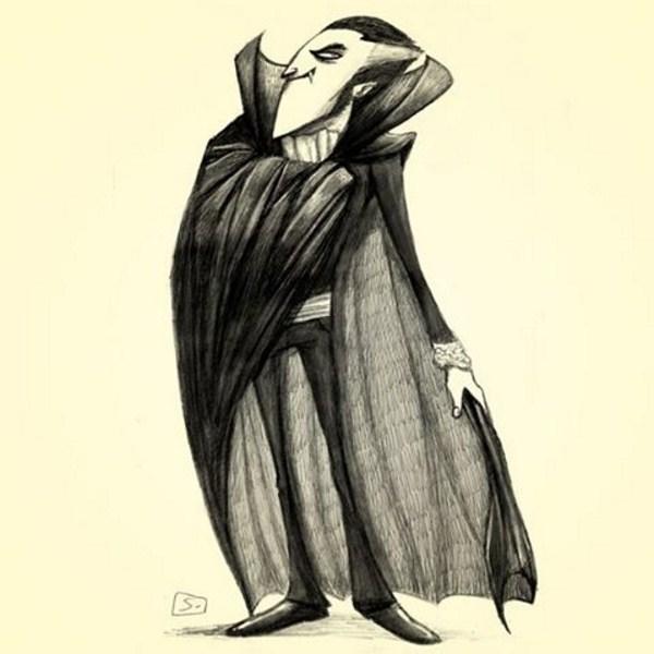 Conde Drácula - Drácula - por Laerte Silvino