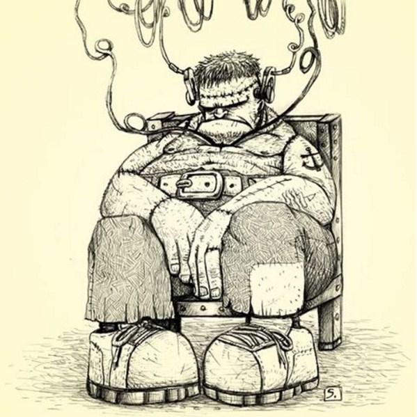 Frankenstein - por Laerte Silvino