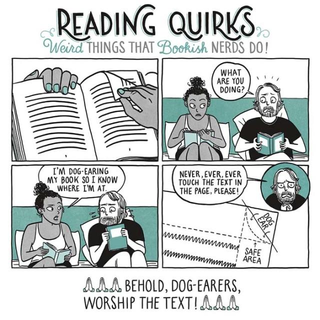 Peculiariades do leitor - Cuidado com orelhas de livros exageradas
