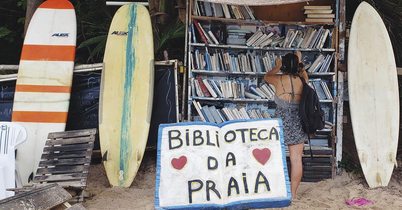Devaneios de sol mar e leituras - Biblioteca da Praia - Praia do Amor-RN
