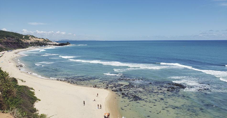 Leitura e praia - Praia do Amor-RN